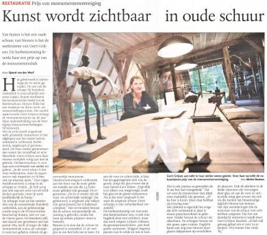 Winnaar Monumentenprijs 2011 - verbouwd door Bouwbedrijf Wiggers Nijenhuis